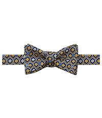 Executive Geometric Squares Bow Tie
