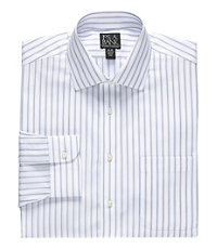 Traveler Multi Stripe Spread Collar Dress Shirt