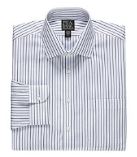 Traveler Stripe Spread Collar Dress Shirt