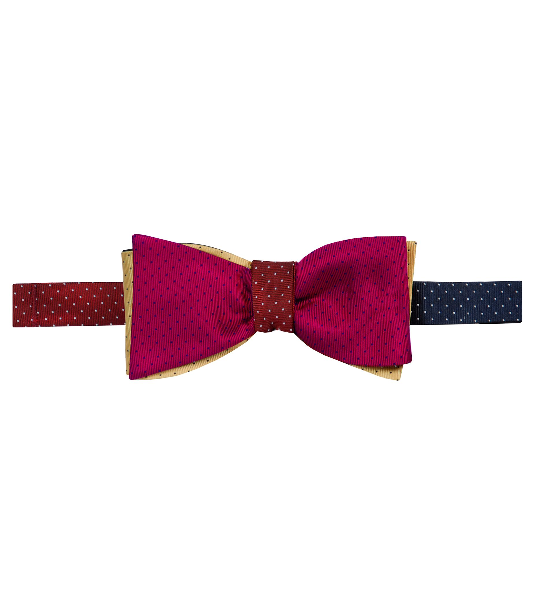 Executive 4 Color Reversible Pindots Bowtie