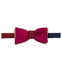 Executive 4 Color Reversible Pindots Bow Tie