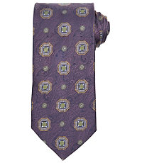 Signature Gold Tapestry with Medallions Long Tie