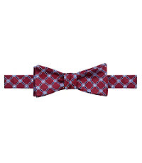 Executive Grid With Square Bow Tie