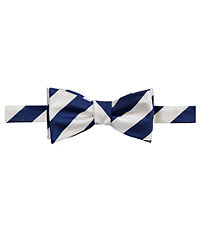 Executive Collegiate Stripe Bow Tie CLEARANCE $24.98 AT vintagedancer.com
