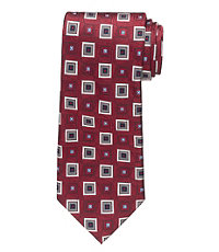 Signature Tossed Diamond Squares Long Tie