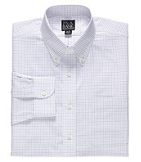 Traveler Buttondown Collar Check Dress Shirt