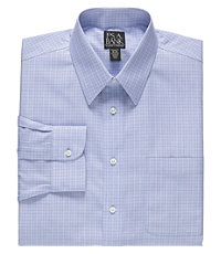 Traveler Point Collar Glen Plaid Dress Shirt