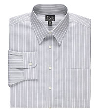 Traveler Point Collar Wide Stripe Dress Shirt
