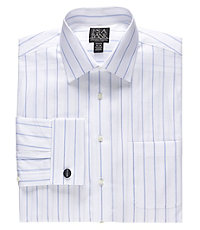 Signature Wrinkle-Free Spread Collar French Cuff Tailored Fit Dress Shirt