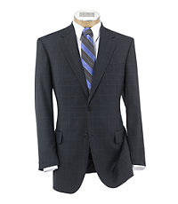 Signature 2-Button Wool Suit with Plain Front Trousers
