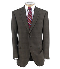 Signature 2-Button Wool Patterned Sportcoat Extended Sizes