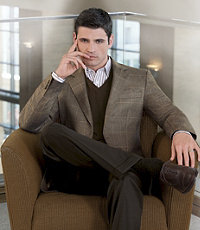 Signature 2-Button Imperial Blend Sportcoat Extended Sizes