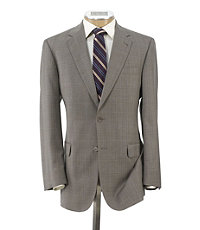 Signature Gold Tailored Fit 2-Button Wool Suit Extended Sizes