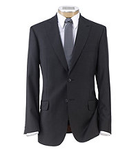 Joseph Slim Fit 2-Button Suits with Plain Front Trousers- Charcoal