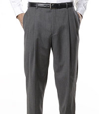 Signature Pleated Front Trousers-Extended Sizes