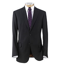 Joseph Slim Fit 2-Button Suits with Plain Front Trousers- Black Fallie