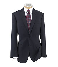 Signature Gold 2-Button Wool Plain Front Tailored Fit Suit Extended Sizes