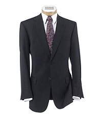 Signature Gold 2-Button Pleated Front Wool Suit Extended Sizes
