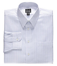 Traveler Point Collar Windowpane Dress Shirt