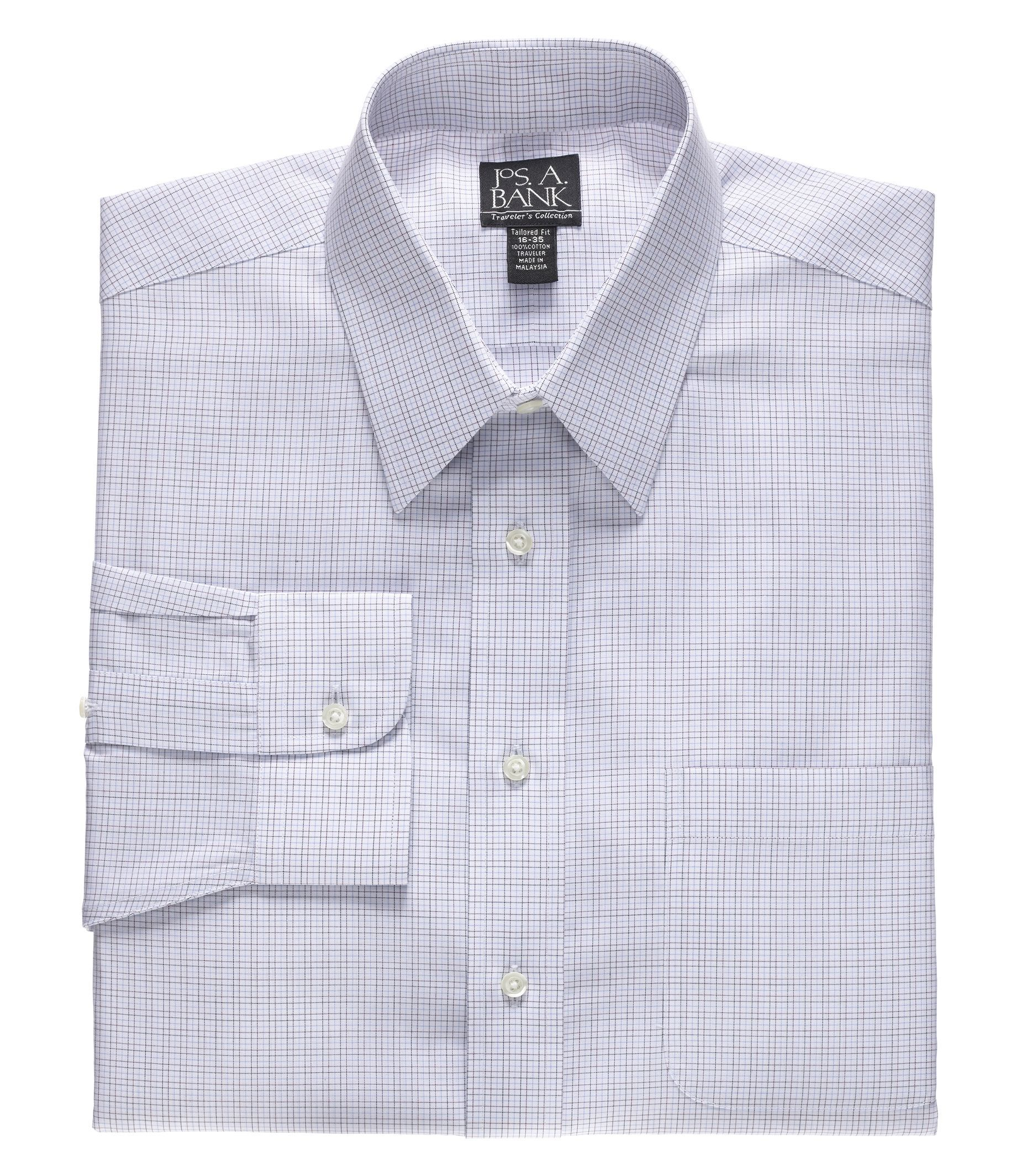 White dress shirt spread collar or point