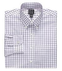 Traveler Tailored Fit Buttondown Collar Patterned Dress Shirt