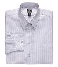 Traveler Point Collar Fine Stripe Dress Shirt
