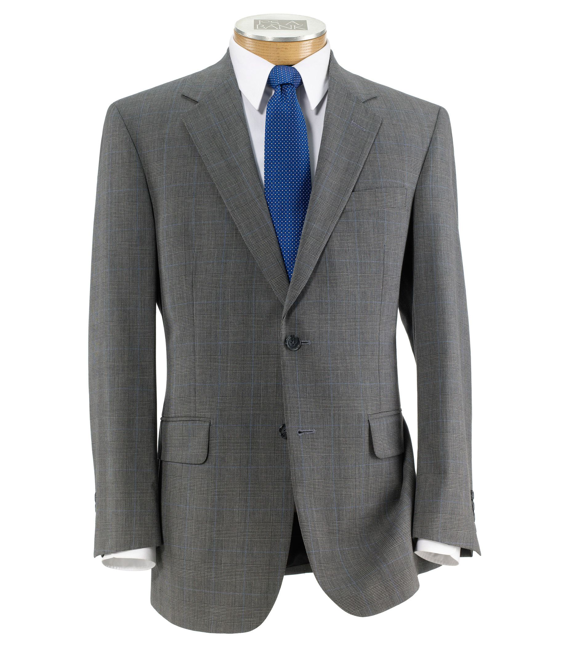 Executive Button Wool Pleated Suit Regal