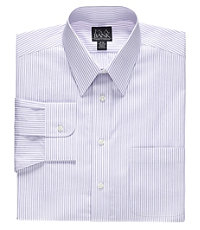 Traveler Tailored Fit Point Collar Shadow Stripe Dress Shirt