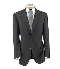 Signature Imperial Wool/Silk Suit with Plain Front Trousers- Olive sm Box Checkered