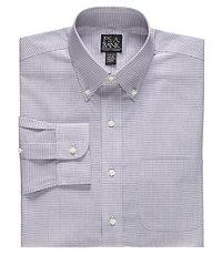 Traveler Buttondown Collar Mini Check Dress Shirt