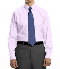 Traveler Pinpoint Solid Point Collar Dress Shirt