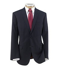 Joseph Slim Fit 2 Button Plain Front Wool Suit- Navy Weave Checkered