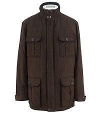 Joseph MicroSuede Quilted 3/4 Jacket