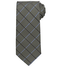 Signature Large Grid Long Tie