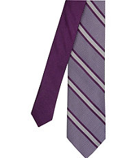Joseph Slim Satin Trapped Stripe Tie