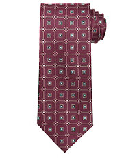 Executive Textured Grid Long Tie