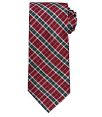 Executive Plaid Long Tie $54.50 AT vintagedancer.com