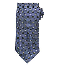 Signature Geometric Diamonds Long Tie