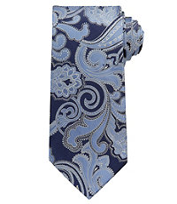 Signature Satin Paisley Long Tie