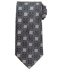 Signature Medallion on Ornate Ground Long Tie