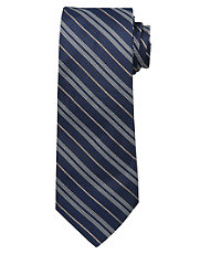 Joseph Dotted Double Stripe Tie