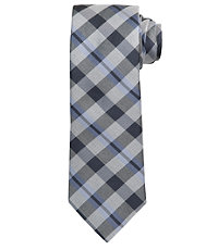 Joseph Spun Silk Plaid Tie