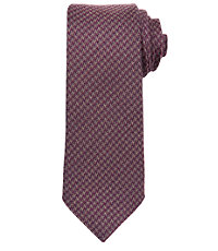 Joseph Wool Allover Houndstooth Check Tie