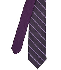 Joseph Slim Satin Thin Stripe Tie