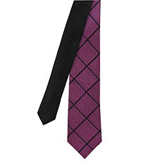 Joseph Slim Textured Large Grid Tie