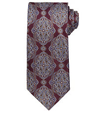 Signature Gold Large Ornate Medaillon Long Tie