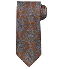 Signature Gold Large Ornate Medaillon Extra Long Tie