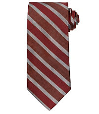 Signature Wide Herringbone Stripe Long Tie