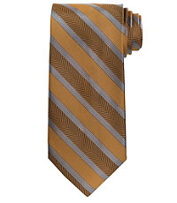 Signature Wide Herringbone Stripe Extra Long Tie