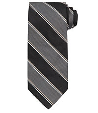 Signature Wide Textured Stripe Tie